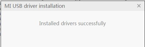 Installed Drivers Successfully