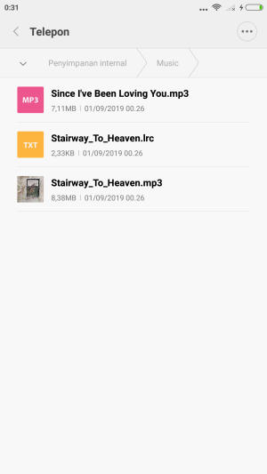 Rename file Lirik Lagu Hp Xiaomi