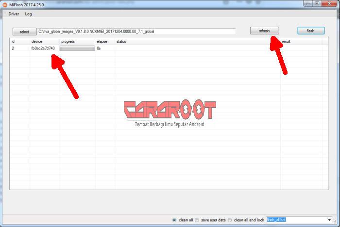 Redmi 5A Terdetek Di Mi Flash Tool