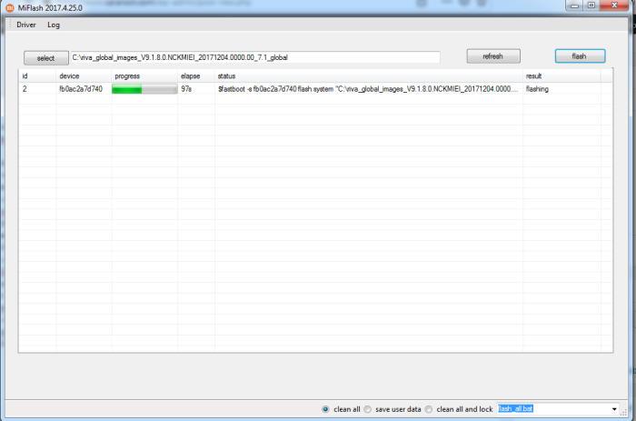 Progres Flash Redmi 5A Di Mi FlashTool