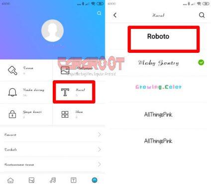Mengembalikan Font Bawaan Xiaomi