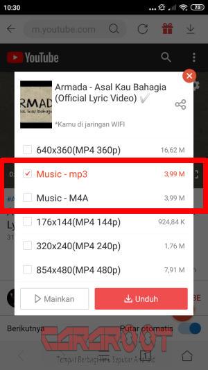 Pilih Musik dan MP3