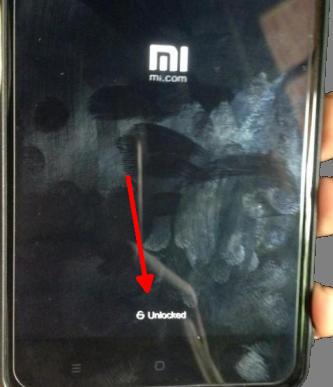 Tanda Unlocked Saat Xiaomi Restart