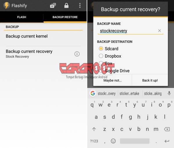 Backup Recovery Di Flashify