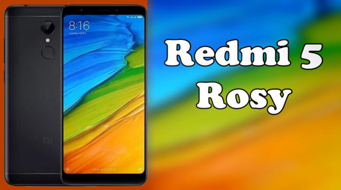 "Firmware Fastboot Global + China Stable Xiaomi Redmi 5 ""Rosy"" 1"