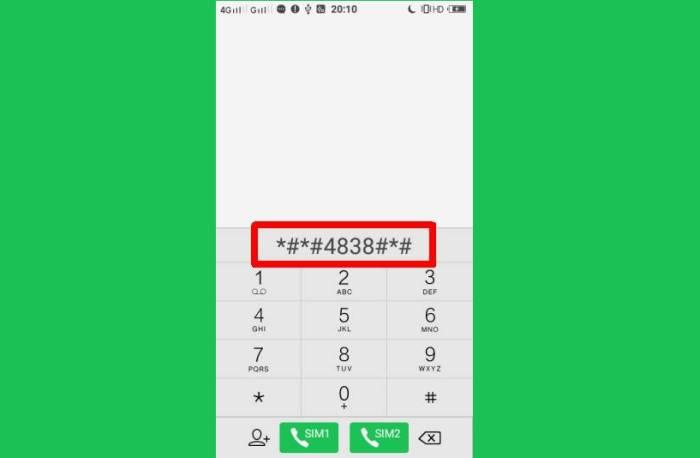 Dial Kode Jaringan Vivo