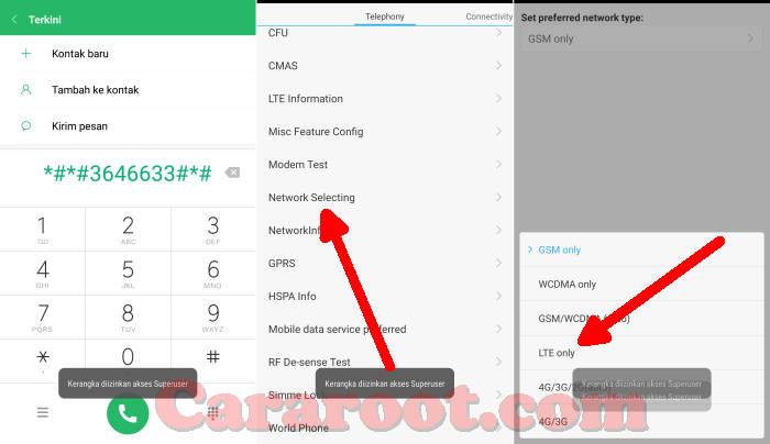 Mengunci 4G Xiaomi Lewat Engineer Mode