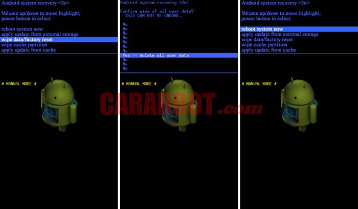 Cara Reset Samsung J1 via REcovery