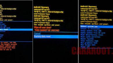 Cara Reset Samsung One UI 2.0