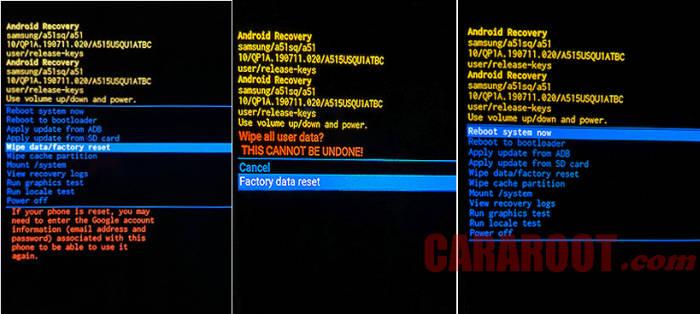 Cara Hard Reset Samsung A30s Dengan Recovery