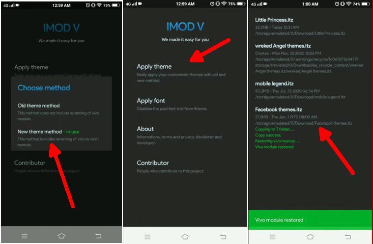 How to Use iMod V Application