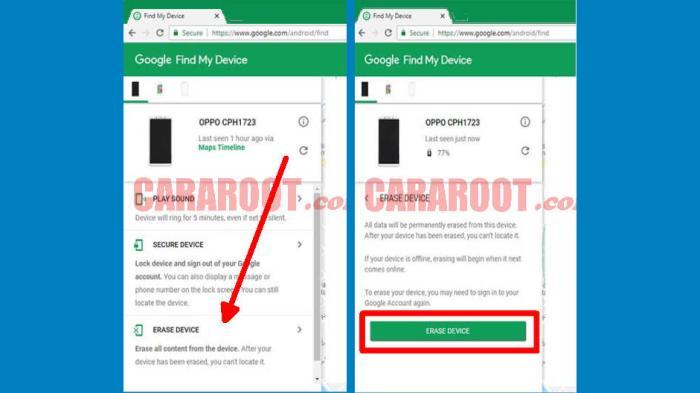 Cara Reset Advan Via Google Find My Device