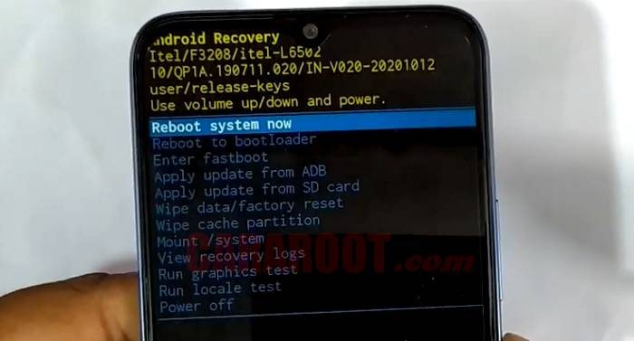 Cara Reset Hp Itel Vision 1 via Recovery Mode
