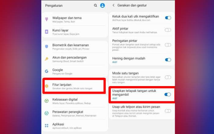 Cara Screenshot Samsung M20, M30, A10 Tanpa Tombol