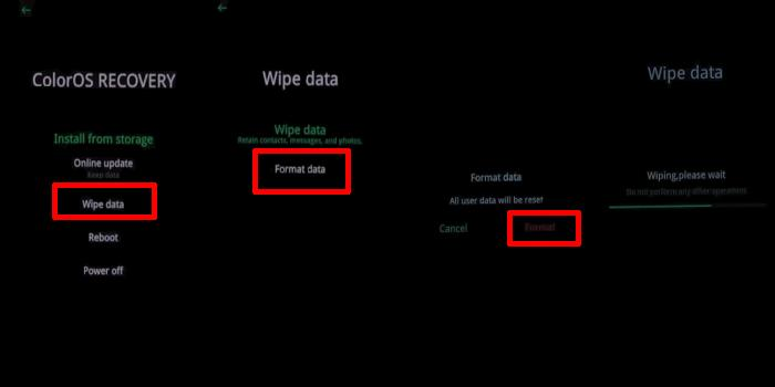 Cara Hard Reset Oppo Lewat Recovery Mode