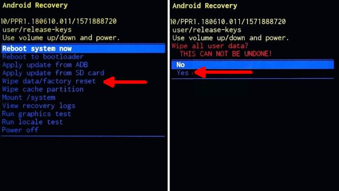 Cara Hard Reset Samsung A12 Lewat Recovery