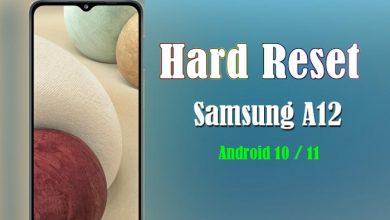 Cara Hard Reset Samsung Galaxy A12