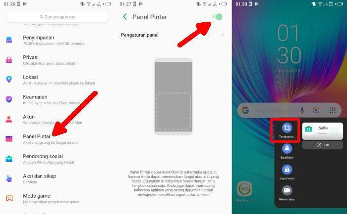 Cara Screenshot Hp Infinix Lewat Smart Panel