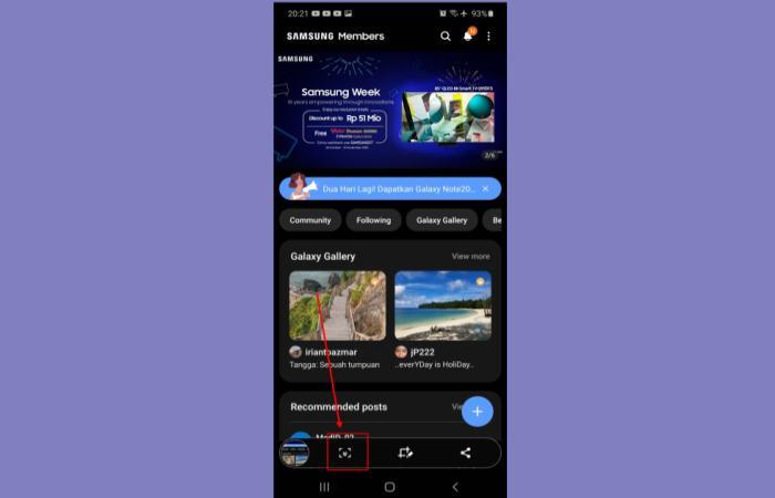 Cara Screenshot Panjang Samsung A12